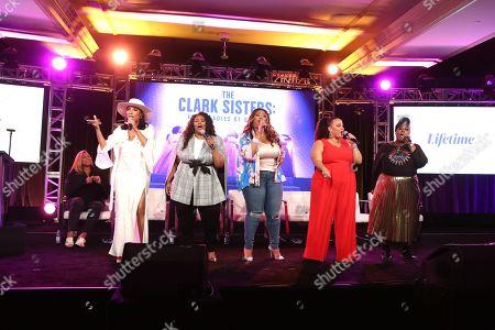 Stock Image of Queen Latifah, Shelea Frazier, Christina Bell, Kierra Sheard, Angela Birchett, Raven Goodwin and Holly Carter
