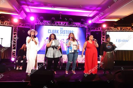 Editorial photo of 'The Clark Sisters-First Ladies of Gospel', A&E Networks, TCA Winter Press Tour, Panels, Los Angeles, USA - 18 Jan 2020