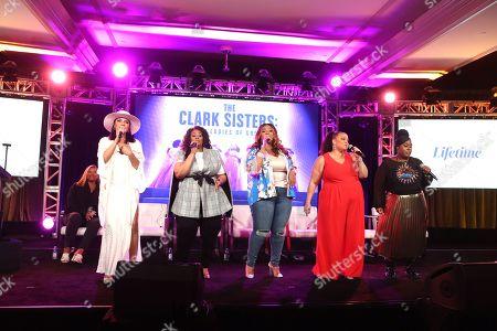 Queen Latifah, Shelea Frazier, Christina Bell, Kierra Sheard, Angela Birchett, Raven Goodwin and Holly Carter