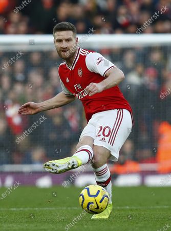 Shkodran Mustafi of Arsenal during English Premier League match between Arsenal and Sheffield United on at The Emirates Stadium, London, England. Photo by AFS/Espa-Images)