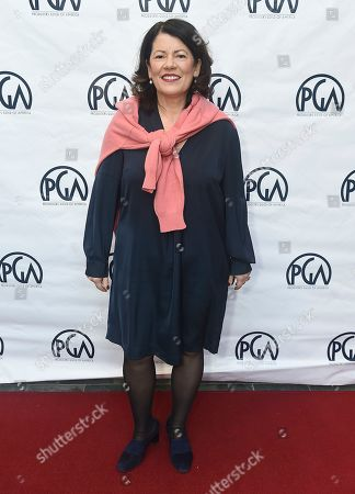 Pippa Harris attends the 31st Annual Producers Guild of America Nominees Breakfast at Skirball Cultural Center on in Los Angeles