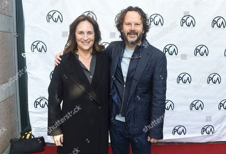 Lucy Fisher, Ram Bergman. PGA President Lucy Fisher and Ram Bergman attend the 31st Annual Producers Guild of America Nominees Breakfast at Skirball Cultural Center on in Los Angeles