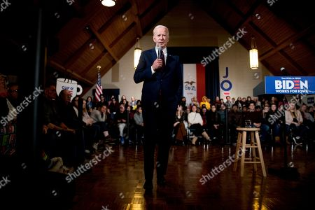 Editorial image of Election 2020 Joe Biden, Indianola, USA - 18 Jan 2020