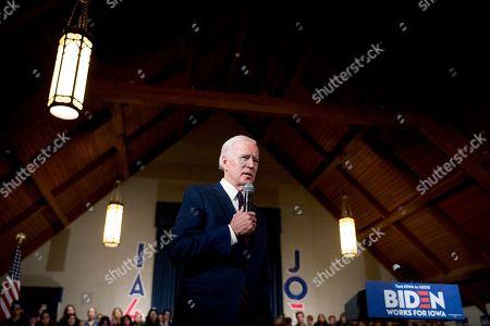 Editorial photo of Election 2020 Joe Biden, Indianola, USA - 18 Jan 2020