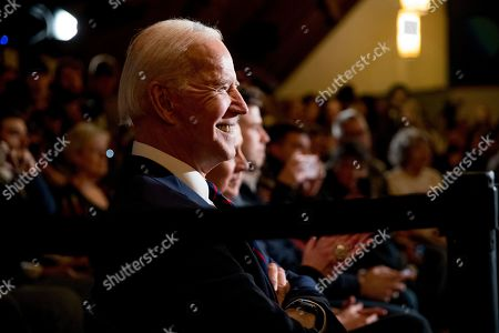 Democratic presidential candidate former Vice President Joe Biden arrives at a campaign stop at Simpson College, in Indianola, Iowa