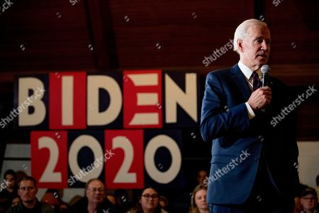 Democratic presidential candidate former Vice President Joe Biden speaks at a campaign stop at Simpson College, in Indianola, Iowa
