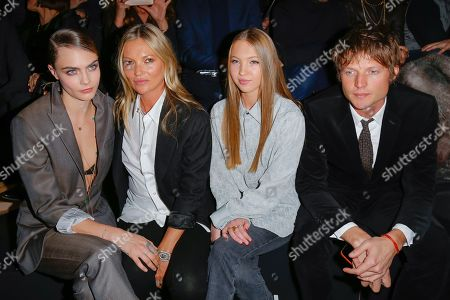 Cara Delevingne, Kate Moss, her daughter Lila Grace Moss Hack and Count Nikolai von Bismarck
