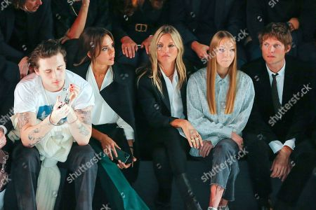 Brooklyn Beckham, Victoria Beckham, Kate Moss, her daughter Lila Grace Moss Hack and Count Nikolai von Bismarck