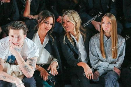 Brooklyn Beckham, Victoria Beckham, Kate Moss, her daughter Lila Grace Moss Hack