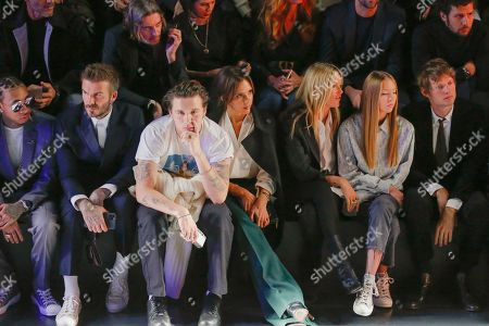 Tyga, David Beckham, Brooklyn Beckham, Victoria Beckham, Kate Moss, her daughter Lila Grace Moss Hack and Count Nikolai von Bismarck