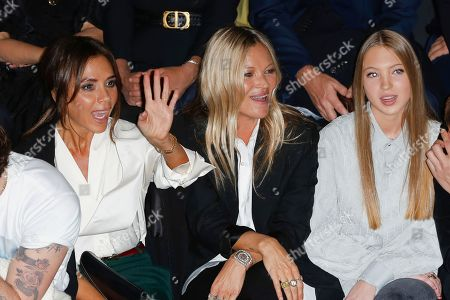 Victoria Beckham, Kate Moss and her daughter Lila Grace Moss Hack