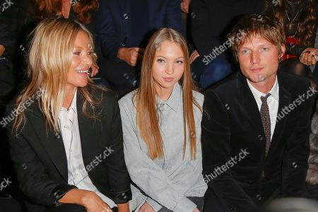 Kate Moss, her daughter Lila Grace Moss Hack and Count Nikolai von Bismarck