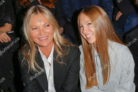 Kate Moss and her daughter Lila Grace Moss Hack
