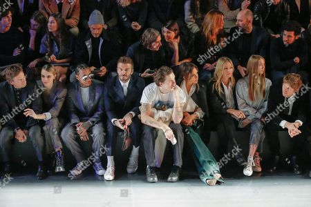 Editorial image of Dior show, Front Row, Autumn Winter 2020, Paris Fashion Week Men's, France - 17 Jan 2020