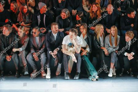 Editorial photo of Dior show, Front Row, Autumn Winter 2020, Paris Fashion Week Men's, France - 17 Jan 2020