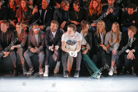 Editorial picture of Dior show, Front Row, Autumn Winter 2020, Paris Fashion Week Men's, France - 17 Jan 2020