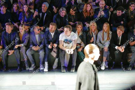 Stock Picture of Pietro Beccari, Cara Delevingne, Tyga, David Beckham, Brooklyn Beckham, Victoria Beckham, Kate Moss, Lila Grace Moss Hack and Count Nikolai von Bismarck