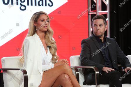 Paris Hilton and Aaron Saidman