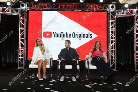 Paris Hilton, Aaron Saidman and Alexandra Dean