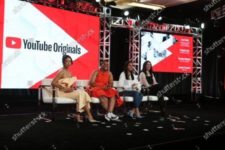 Liza Koshy, Thembe Mahlaba, Prajakta Koli and Joanna Forscher