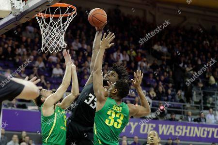 Editorial image of Oregon Washington Basketball, Seattle, USA - 18 Jan 2020