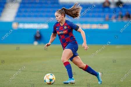 Lieke Martens of FC Barcelona in action during the Spanish women's league Primera Iberdrola match between FC Barcelona v Rayo Vallecano at Johan Cruyff Stadium on in Barcelona, Spain. (Photo by DAX/ESPA-Images)