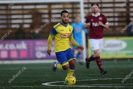 Roman Michael-Percil of Haringey during Haringey Borough vs Potters Bar Town, BetVictor League Premier Division Football at Coles Park Stadium on 18th January 2020