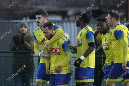 Roman Michael-Percil of Haringey celebrates his goal during Haringey Borough vs Potters Bar Town, BetVictor League Premier Division Football at Coles Park Stadium on 18th January 2020