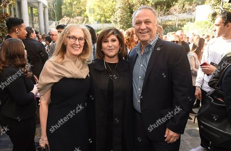 Susan Sprung, Amy Pascal, Vance Van Petten. PGA National Exec. Director/COO Susan Sprung, Amy Pascal and PGA National Exec. Director/COO Vance Van Petten attend the 31st Annual Producers Guild of America Nominees Breakfast at Skirball Cultural Center on in Los Angeles