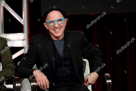 "Arliss Howard speaks at the ""Manhunt: Deadly Games"" panel during the Spectrum Originals/Lionsgate TCA 2020 Winter Press Tour at the Langham Huntington, in Pasadena, Calif"