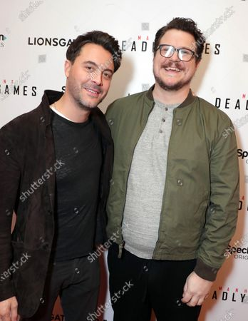 Jack Huston and Cameron Britton