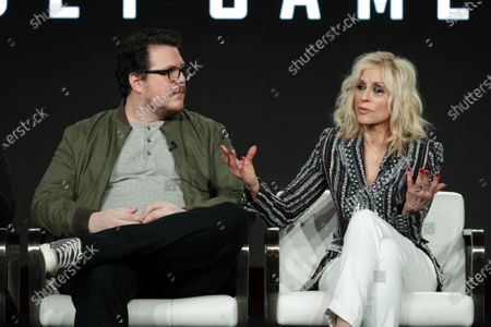 Cameron Britton and Judith Light
