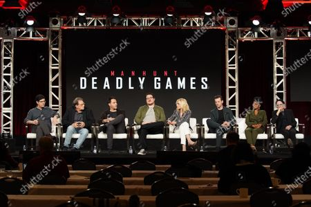 Exec. Producer Andrew Sodroski, Exec. Producer Michael Dinner, Jack Huston, Cameron Britton, Judith Light, Gethin Anthony, Kelly Jenrette and Arliss Howard