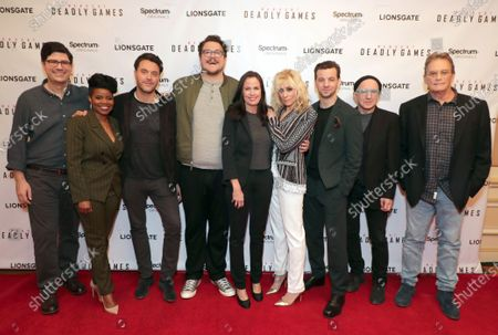 Exec. Producer Andrew Sodroski, Kelly Jenrette, Jack Huston, Cameron Britton, Katherine Pope - Head of Spectrum Originals, Judith Light, Gethin Anthony, Arliss Howard and Exec. Producer Michael Dinner
