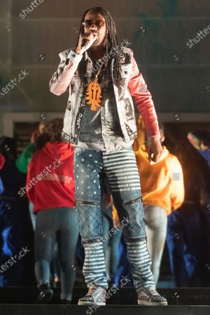Stock Photo of Recording artist General Levy performs take part in the RISE outdoor show celebrating Brent as London's Borough of Culture 2020