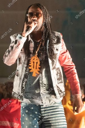 Stock Image of Recording artist General Levy performs take part in the RISE outdoor show celebrating Brent as London's Borough of Culture 2020