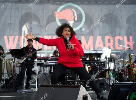Jenifer Jeanette Lewis. Actress Jenifer Lewis sings before participants of the Women's March in Los Angeles, . Thousands gathered in cities across the country Saturday as part of the nationwide Women's March rallies focused on issues such as climate change, pay equity, reproductive rights and immigration