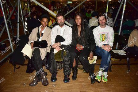 Editorial picture of Li-Ning show, Front Row, Autumn Winter 2020, Paris Fashion Week Men's, France - 18 Jan 2020