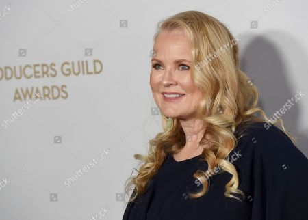 Suzanne Todd arrives at the 2020 Producers Guild Awards at the Hollywood Palladium, in Los Angeles, Calif