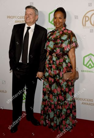 Ted Sarandos, Nicole Avant. Ted Sarandos, left, and Nicole Avant arrive at the 2020 Producers Guild Awards at the Hollywood Palladium, in Los Angeles, Calif