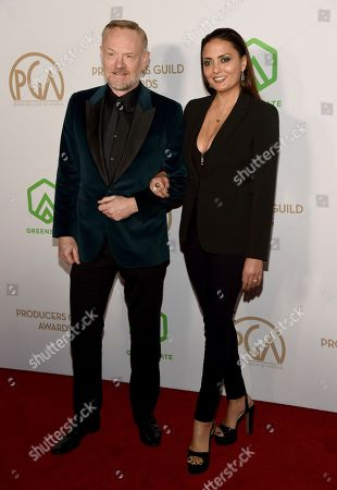Jared Harris, Allegra Riggio. Jared Harris, left, and Allegra Riggio arrive at the 2020 Producers Guild Awards at the Hollywood Palladium, in Los Angeles, Calif