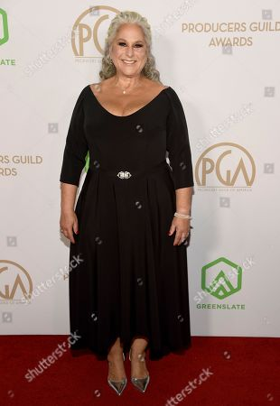 Marta Kauffman arrives at the 2020 Producers Guild Awards at the Hollywood Palladium, in Los Angeles, Calif