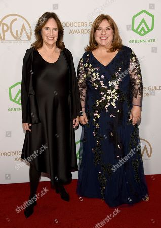 Lucy Fisher, Gail Berman. Lucy Fisher, left, and Gail Berman arrive at the 2020 Producers Guild Awards at the Hollywood Palladium, in Los Angeles, Calif