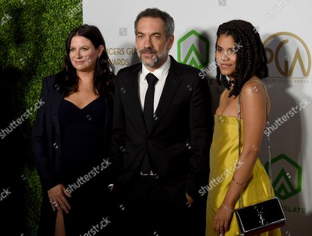 Emma Tillinger Koskoff, Todd Phillips, Zazie Beetz. Emma Tillinger Koskoff, from left, Todd Phillips and Zazie Beetz arrive at the 2020 Producers Guild Awards at the Hollywood Palladium, in Los Angeles, Calif