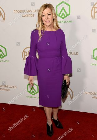 Dede Gardner arrives at the 2020 Producers Guild Awards at the Hollywood Palladium, in Los Angeles, Calif
