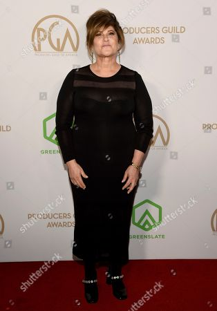 Amy Pascal arrives at the 2020 Producers Guild Awards at the Hollywood Palladium, in Los Angeles, Calif