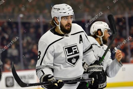 Stock Photo of Los Angeles Kings' Drew Doughty in action during an NHL hockey game against the Philadelphia Flyers, in Philadelphia