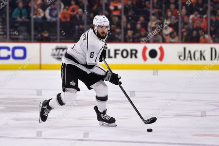 Los Angeles Kings' Drew Doughty in action during an NHL hockey game against the Philadelphia Flyers, in Philadelphia