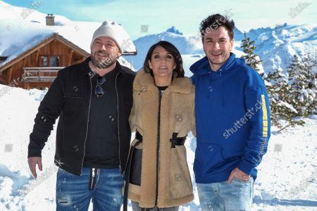 Alban Ivanov, Florence Foresti and Mickael Youn