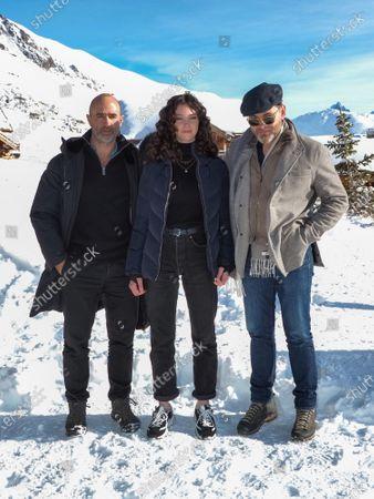 Pierre Core, Lila Gueneau Lefas and Clovis Cornillac